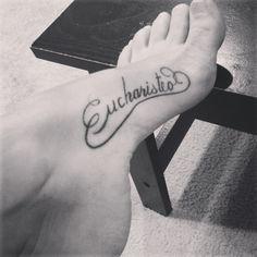 My new inner foot tattoo.. #ink #inked #foottattoo #eucharisteo