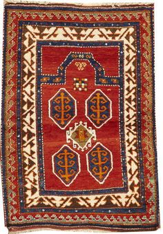 A Kazak rug -  Caucasus,  late 19th century,  size approximately 3ft. 6in. x 5ft. 11in.
