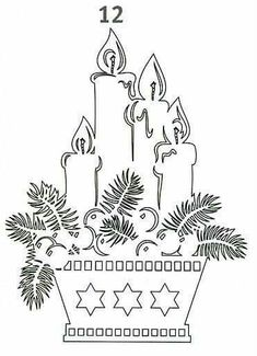 Christmas stencils to cut out of paper on the windows: 24 thousand images found in Yandeks. Noel Christmas, Christmas Candles, Christmas Paper, Christmas Colors, Christmas Projects, Christmas Decorations, Xmas, Kirigami, Christmas Stencils