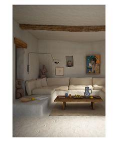 "Charlotte Taylor on Instagram: ""Villa Saraceni at Scala dei Turchi, Sicily, Italy 🍋 Lounge of home designed in collaboration with Riccardo Fornoni @creamatelier 🍋…"""