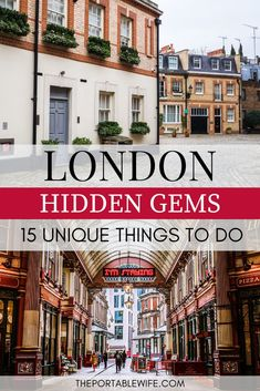 These non touristy things to do in London are full of London hidden gems and places to visit in London for free. Escape the crowds at these unique places to visit in London, while still finding time for London must do experiences. These London travel tips Sightseeing London, London Travel, Travel Europe, London England Travel, Bangkok Travel, London Map, London Pubs, Shopping Travel, London City