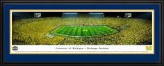 Michigan Wolverines Football Panoramic - Under the Lights $199.95