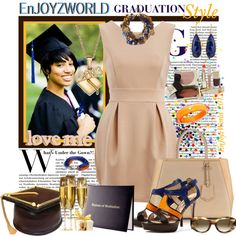 """EnJOYZWORLD: GRADUATION Style!!! by enjoyzworld on Polyvore. """"What's Under The Gown?!"""" It's Her Day! She's Finally Graduating from College... She Is Now a Woman! Ready for Business and Ready to Dress Like The Success She Has Become!!  WooooooWhoooo! ConGrats to Our Grads... Class Of 2013!!!"""