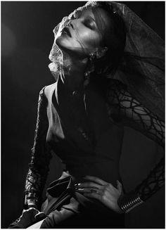 Dima Hohlov for Modern Weekly China September 2012 #black #widow #veil #fashion #editorial #dark