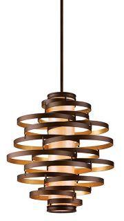 Vertigo Large Pendant Light - modern - pendant lighting - Lamps Plus Deco Luminaire, Luminaire Design, Lamp Design, Cool Lighting, Modern Lighting, Lighting Design, Vanity Lighting, Track Lighting, Bathroom Lighting