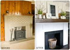 Home Improvement Idea – Freshening up your Fireplace. Great ideas & examples from Homes.com