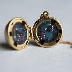 Constellation Zodiac Locket ... Personalised by SilkPurseSowsEar