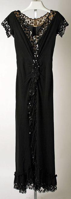 Dress, Evening, Nettie Rosenstein  (American, 1890–1980)   Date: 1941–42 Culture: American