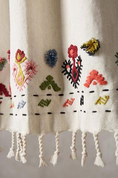 Discover sale kitchen & dining accessories at Anthropologie, including sale dinnerware collections, glassware, serveware, table linens and more. Simple Embroidery, Embroidery Stitches, Embroidery Patterns, Hand Embroidery, Knit Stitches, Stitch Patterns, Broderie Simple, Textiles, Embroidered Clothes