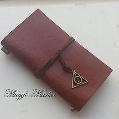 #Brown #diary #journal deathly hallows charm design hermione book hogwarts harry,  View more on the LINK: http://www.zeppy.io/product/gb/2/301819886767/