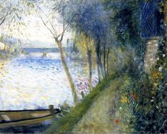 Pierre Auguste Renoir - Landscape by the Seine, the Argenteuil Bridge (1878)