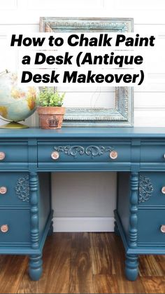 Cheap Furniture Makeover, Diy Furniture Renovation, Diy Furniture Table, Desk Makeover, Diy Furniture Plans Wood Projects, Chalk Paint Furniture, Furniture Storage, Diy Furniture Antiquing, Diy Interior Furniture