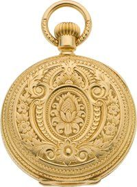 Timepieces:Pocket (pre 1900) , Patek Philippe & Co. Lady's Gold Hunters Case Pocket Watch,circa 1883. ...