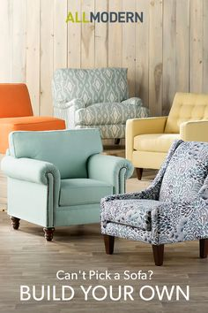 Sign up to customize that perfect piece you can't find anywhere else. Our custom upholstery guide fills you in on all the options so you can get to relaxing on that perfect piece.
