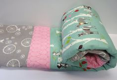 Reserved for Caitlin  Modern Baby Girl by NowandThenQuilts on Etsy, $110.00