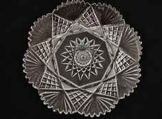 ABP Cut Glass Underplate Unknown Maker Last Day of Cut Glass Sale