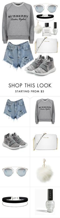 """Sin título #511"" by bethsalash ❤ liked on Polyvore featuring Burberry, adidas Originals, Michael Kors, Christian Dior, Charlotte Russe, Miss Selfridge, Torrid and Tom Daxon"