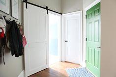 Bower Power - Page 20 of 2418 - Diy Barn Door, Barn Doors, Indoor Sliding Doors, Building A Door, Black Interior Doors, Backsplash, Countertop, Floor Decor, Painted Doors