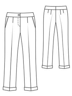 Cuffed Trousers (plus-size) 02/2013 #143B