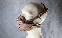 Half-face Masks by SteampunkMasks Steampunk Mask, Steampunk Costume, Steampunk Diy, Steampunk Fashion, Biker Mask, Motorcycle Mask, Mad Max Mask, Armadura Steampunk, Half Face Mask