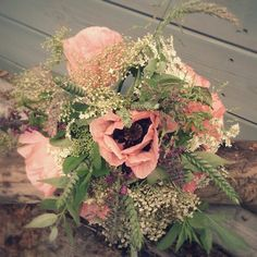 Wild bouquet with poppies
