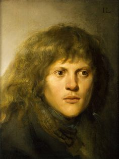 Jan Lievens (1607 – 1674) was a Dutch painter, usually associated with Rembrandt, working in a similar style; self-portrait
