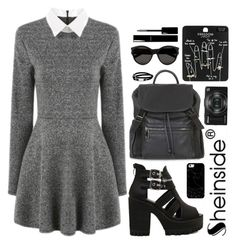 """""""SheIn 1"""" by scarlett-morwenna ❤ liked on Polyvore featuring Topshop, Casetify, Nikon, McQ by Alexander McQueen, Yves Saint Laurent and Chanel"""
