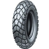 Michelin 120/90-10 Reggae scooter tire. Unique styling, a knobby-type tread pattern and excellent grip make the Reggae the tire for scooters on the move. Highly capable on loose surfaces, Reggae tires are true all-season tires for on- and off-road use. The Reggae is original equipment on the Yamaha Zuma.