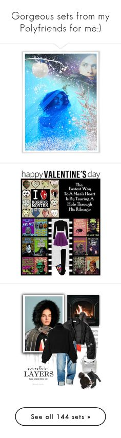 """""""Gorgeous sets from my Polyfriends for me:)"""" by asia-12 ❤ liked on Polyvore featuring art, Olympia Le-Tan, Christian Louboutin, movies, christianlouboutin, olympialetan, valentinesday, giftset, emo and gothic"""