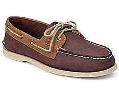 Sperry Top-Sider Authentic Original Two-Tone 2-Eye Boat Shoe | Burgundy / Tan