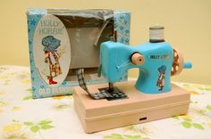 Holly Hobbie sewing machine.  I got this for Christmas when I was about seven, but mine was black.
