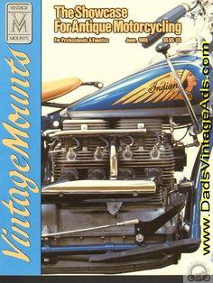1988 June Vintage Mounts Antique Motorcycle Magazine Back-Issue Vintage Indian Motorcycles, Antique Motorcycles, Motorcycle Companies, Rally, Contents, Harley Davidson, Magazines, Georgia, Twin
