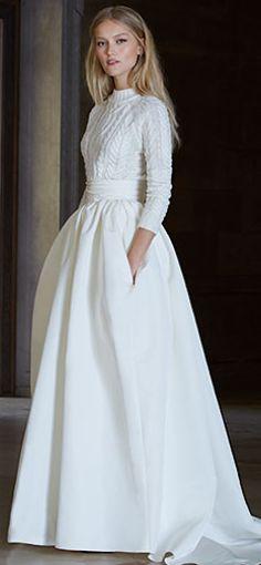 Beautiful look for a winter wedding dress