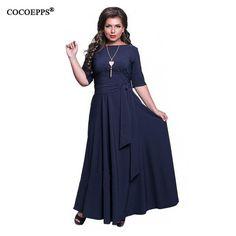 53122298c5973 Elegant Dress Plus Size Women's Summer Maxi Long Dresses Short ...