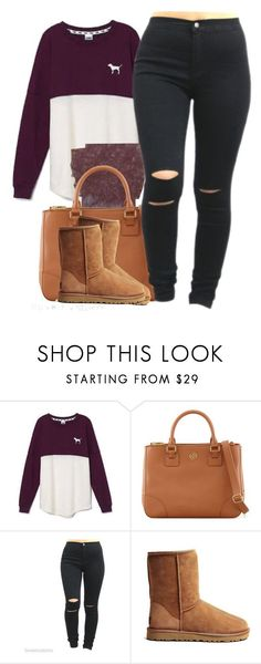 """""""Untitled #173"""" by trillest-fashion ❤ liked on Polyvore featuring Victoria's Secret, Tory Burch and UGG Australia"""