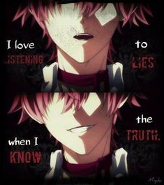 [same ayato same.] Anime: Diabolik/c Lovers Sad Anime Quotes, Manga Quotes, Yandere, Ayato Sakamaki, Diabolik Lovers Ayato, I Know The Truth, Dark Quotes, Depression Quotes, Memes