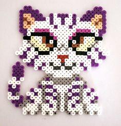 Silverperler Tiger Cat perler beads by kittendrumstick