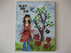Hey, I found this really awesome Etsy listing at https://www.etsy.com/listing/150348191/lovely-mixed-media-girl-art-canvas-she