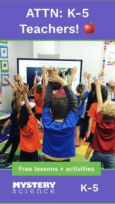 Mystery Science offers open-and-go lessons that inspire kids to love science. Less prep, more learning. Physical Education Games, Music Education, Childhood Education, Health Education, Smart Board Activities, Smart Board Lessons, Team Building Activities, Elementary Music, Elementary Schools