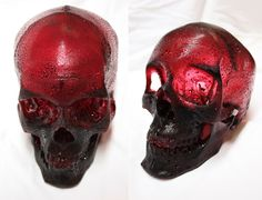 A Life-Sized Human Skull Sculpted from Raspberry Flavored Sugar by Joseph Marr #art #food