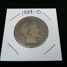 1899 O Barber 90% Silver Half Dollar .900 Fine Silver & Free USA Shipping #silver #coins #barber #c2cth
