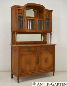 Perfect Buffet Schrank Eiche massiv Louis Seize Stil Jugendstil Art D co um