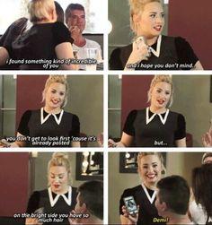 Haha Demi and Simon