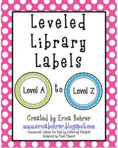 Leveled Library Labels: A through Z by Erica Bohrer 2nd Grade Classroom, School Classroom, Classroom Ideas, Classroom Lables, Chevron Classroom, Classroom Posters, Book Bin Labels, Book Bins, Teacher Organization