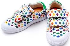 "AH-dorable rainbow ""Pantoney Chanel"" kids sneakers"