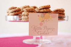 pink ready to pop popcorn themed sprinkle baby shower kettle popcorn cookies