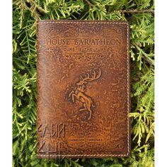 "Обложка на паспорт из кожи ""House BARATHEON"" по мотивам сериала ""Игра престолов"""