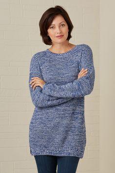 Fair Indigo Fair Trade Organic Drop Shoulder Sweater (Caramel Marl) - Women - Organic - Shop Your Values