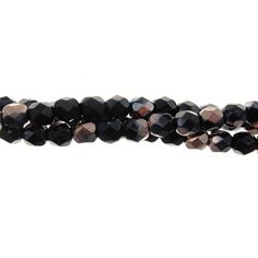 Designer Czech Glass 5mm Bead Strand, Jet/Copper Presidents Day Sale, Glass Jewelry, Czech Glass, Coupon Codes, Jet, Fashion Accessories, Etsy Seller, Copper, Beads
