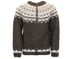 Skjöldur Icelandic Wool hand knitted Jumper with Zipper